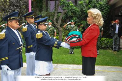 Ceremonia de Abanderamiento e Incineración de Bandera