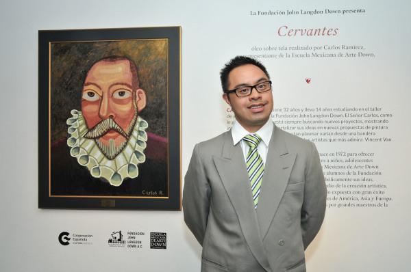 2016. Retrato de Cervantes, de Carlos Ramírez en CCE