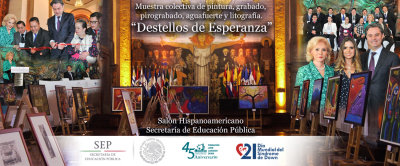 """Se inauguró """"Destellos de Esperanza"""" en el Salón Iberoamericano de la SEP"""