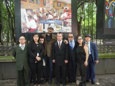Obras de la Escuela Mexicana de Arte Down en Chapultepec