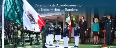 Ceremonia de Abanderamiento e Incineración de Bandera 2018