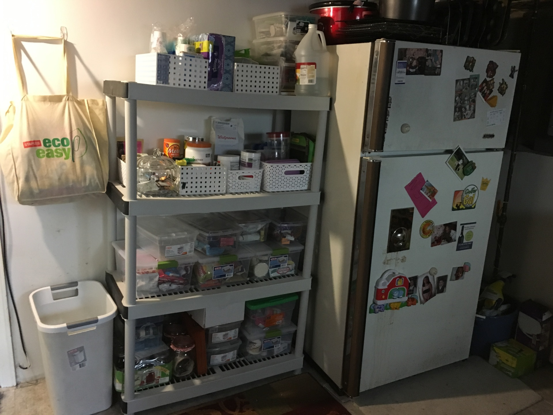 Now it's an extension of her pantry.