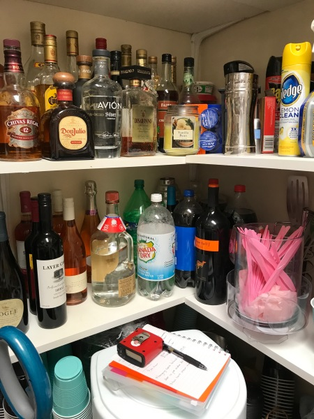 A little bit of everything... liquor, cleaning products...