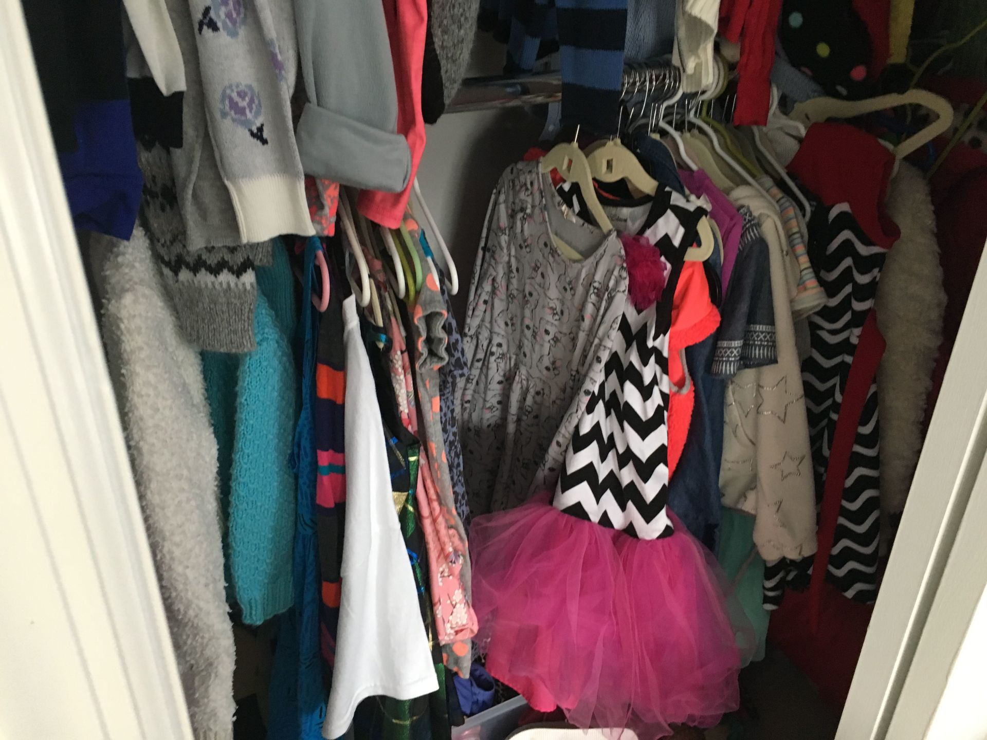 We've got some beautiful clothes for a beautiful girl but she needed some room in her room!