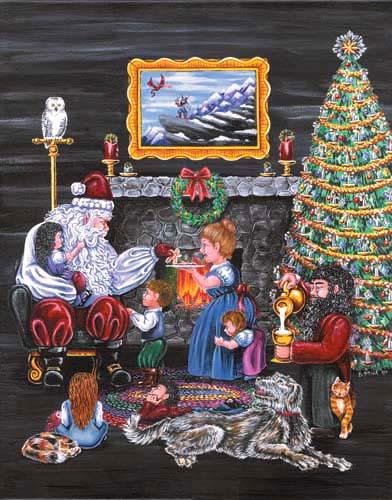 Santa Visiting the Dwarves