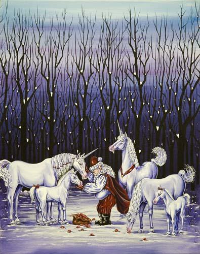 Santa Feeding Unicorns