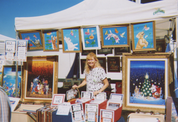 Elizabeth Shick at outdoor art shows