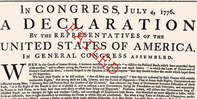 Rewriting the Declaration of Independence