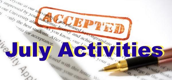 July: College Planning Cohort News