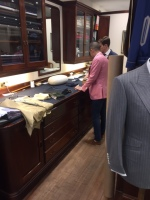 Joey Dimz at Maurice Sedwell of Savile Row