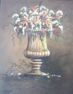 "Garden's Glory 14""x18"" acrylic $175"