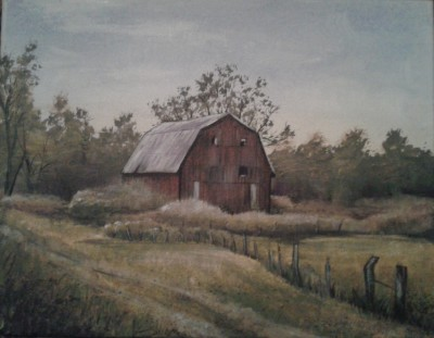 "Old Red Barn 11""x14"" print $50"