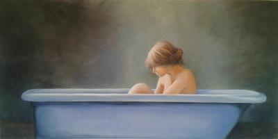 "Washing Away the Sorrows 12""x24"" giclee $95"