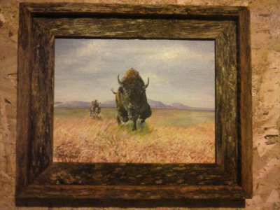 "The Chase 8""x10"" framed acrylic $175"