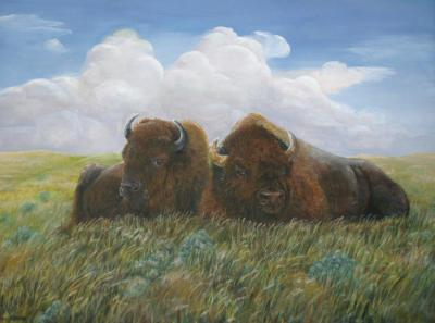 "Monarchs of the Plains 24""x24"" print $150"