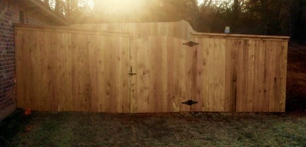Residential Cedar Cap and Trim Privacy Fence Edmond Oklahoma Fence Gate Company