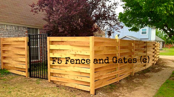 Cedar Privacy Basketweave Wood Fence