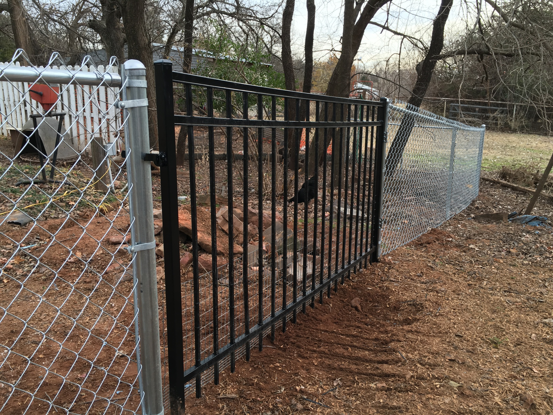 Black Iron Montage Gate Edmond Oklahoma Fence Gate Company