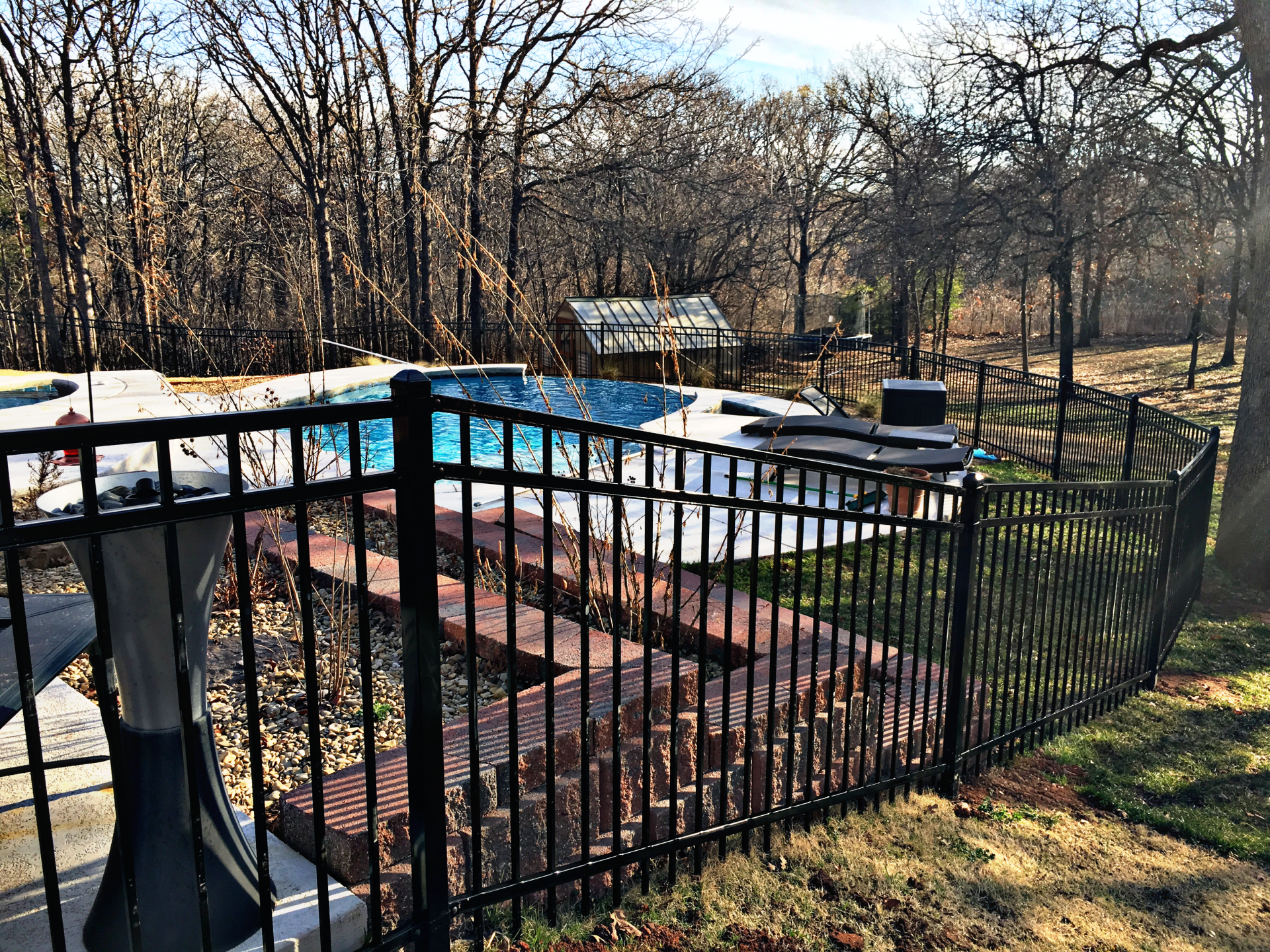 Montage Iron Pool Fence Edmond Oklahoma Fence Gate Company