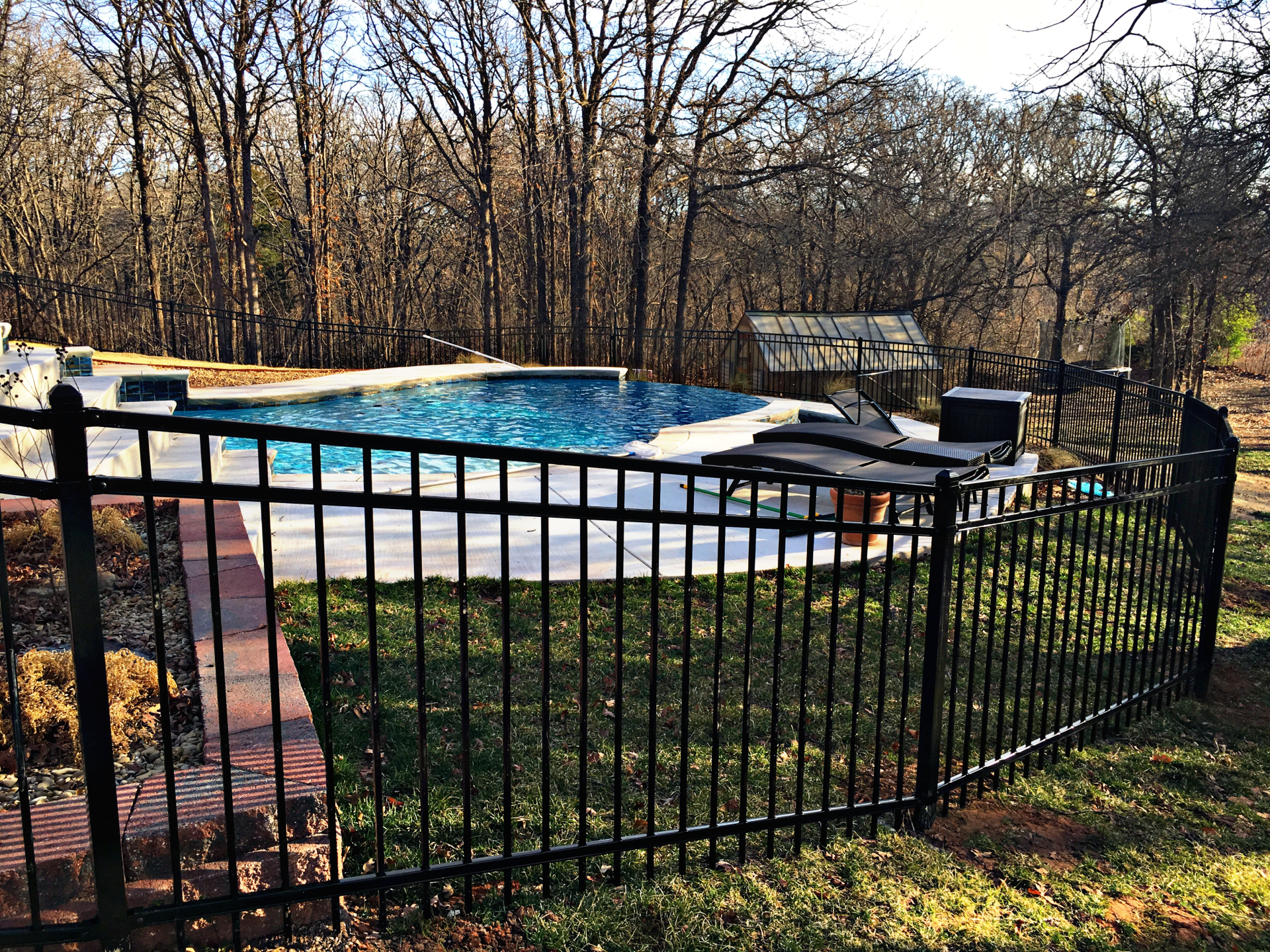 Iron Ameristar Montage Pool Fence for Security Edmond Oklahoma Fence Gate Company