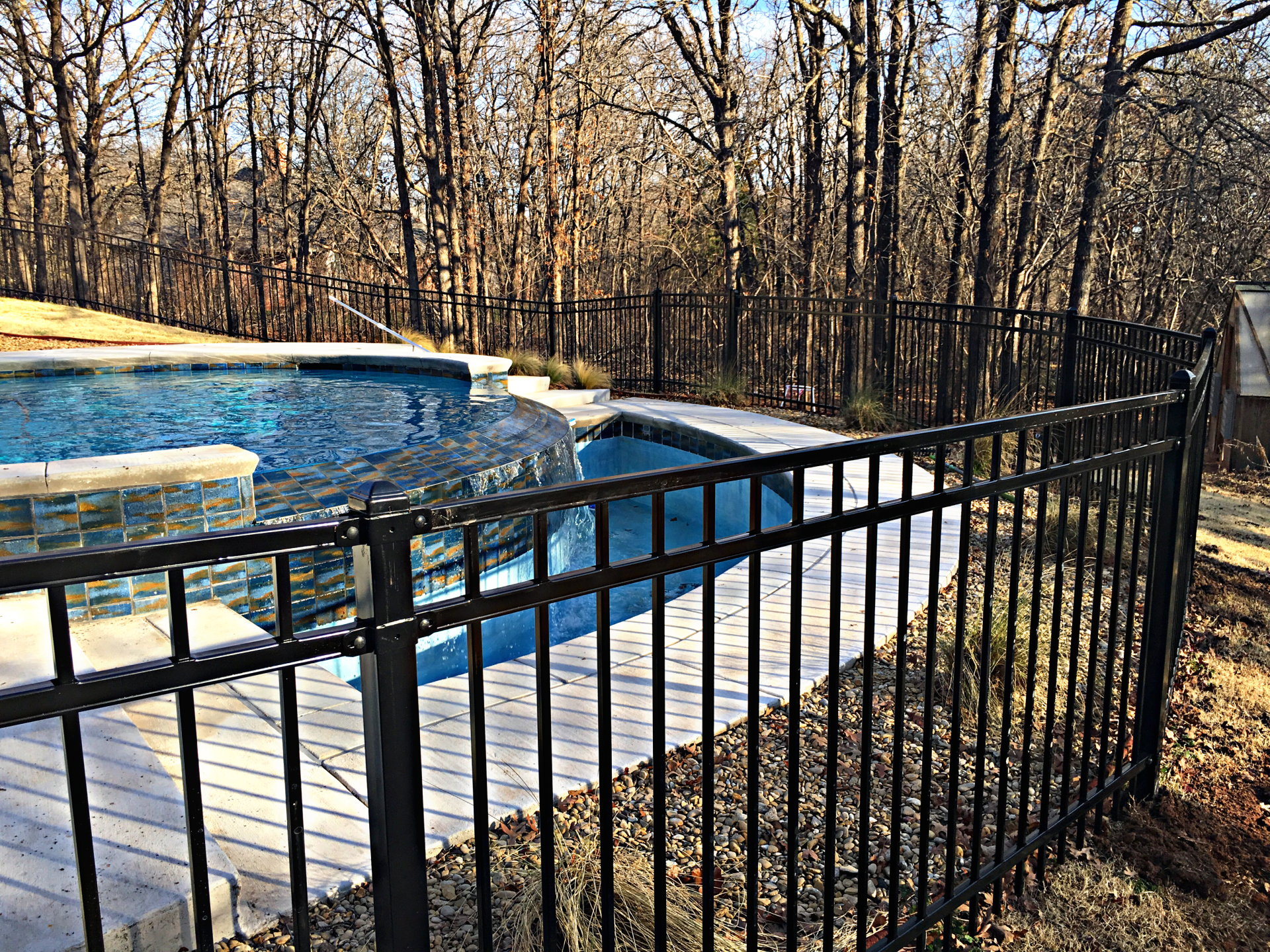 4 Foot Ameristar Iron Montage Pool Security Fence Edmond Oklahoma Fence Gate Company