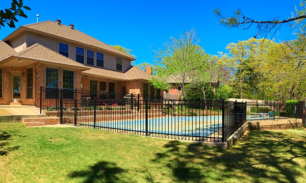 Iron Montage Pool Security Fence Edmond Oklahoma Fence Gate Company