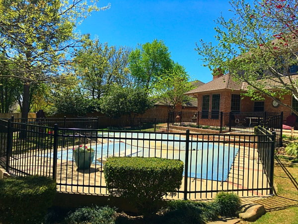 Iron Pool Security Fence Edmond Oklahoma Fence Gate Company