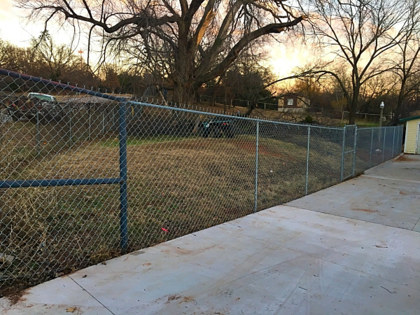 5 ft Residential Galvanized Chain Link Fence Edmond Oklahoma Fence Gate Company