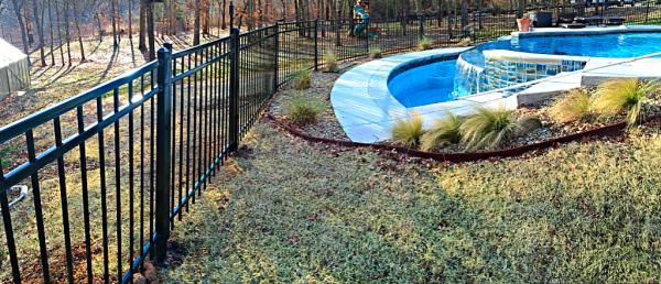 Black Iron Montage Pool Security Access Entry Fence Play Yard Dog Fence Edmond Oklahoma Fence Gate Company