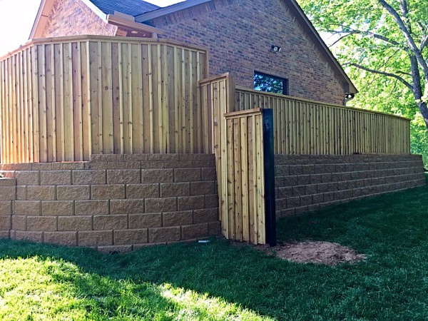 Custom cedar cap and trim Edmond Oklahoma Fence Gate Company