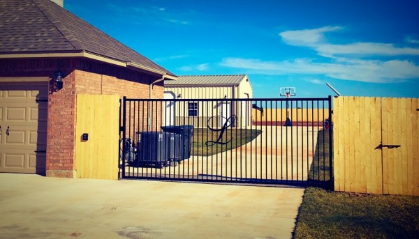 Security Gate Edmond Oklahoma Fence and Gate Company Best Economic Tough Solid Steel Driveway Access Picket Iron Fence Gate Wrought Iron Solar Gate