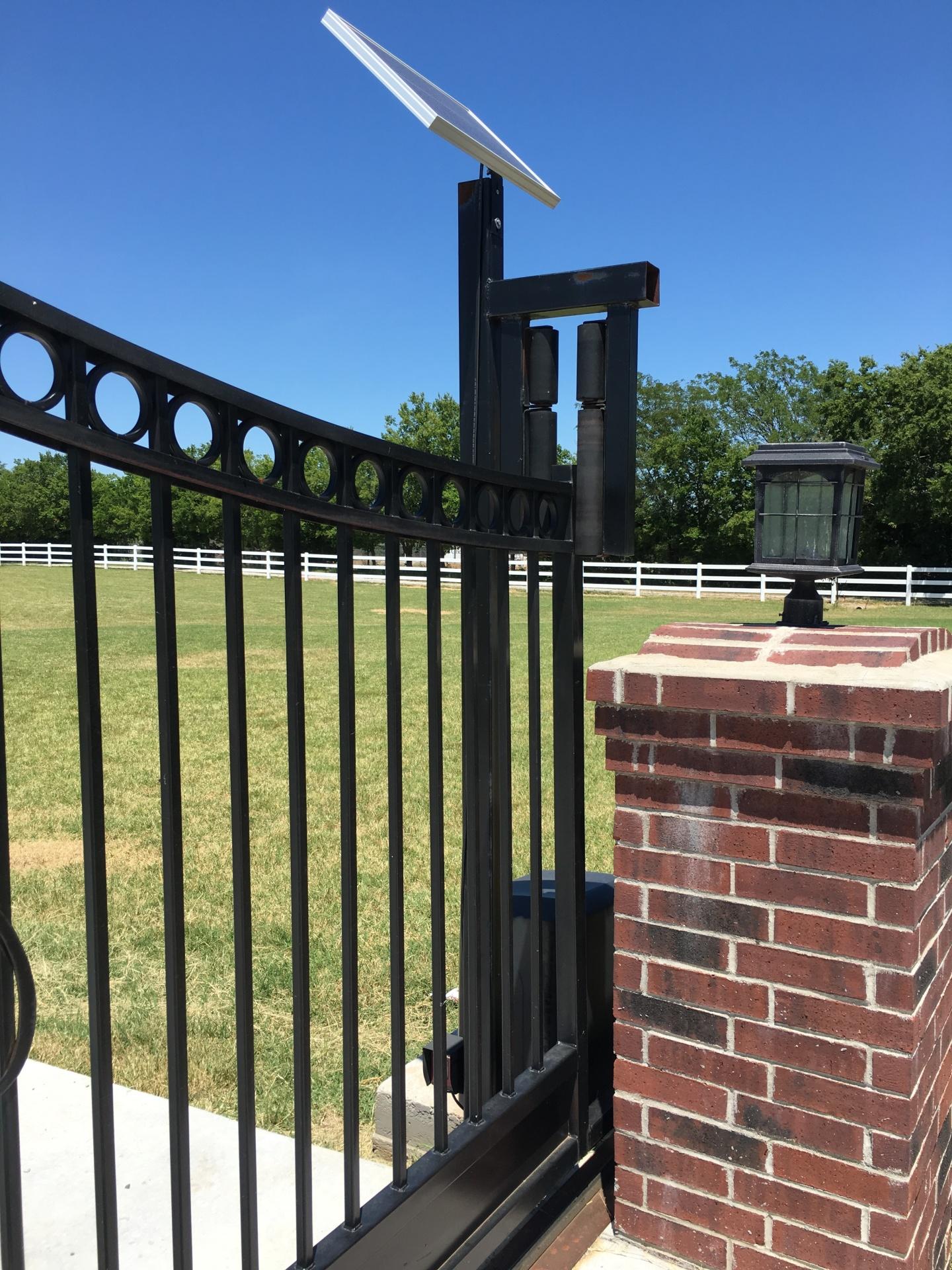 Edmond fence and gate company - solar openers - gate access - security gates - custom iron gates - driveway gate opener - local oklahoma company