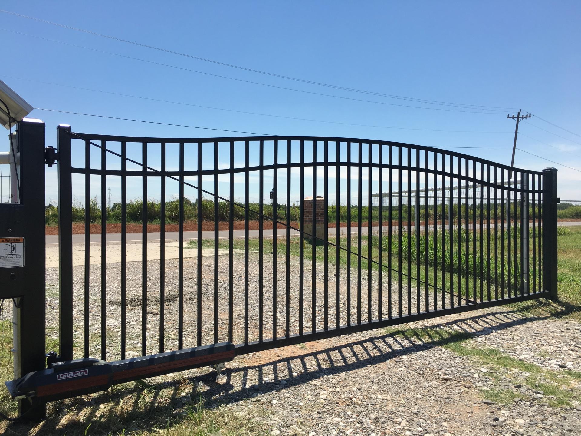 Economical Gate - Edmond fence and gate company - solar openers - gate access - security gates - custom iron gates - driveway gate opener - local oklahoma company