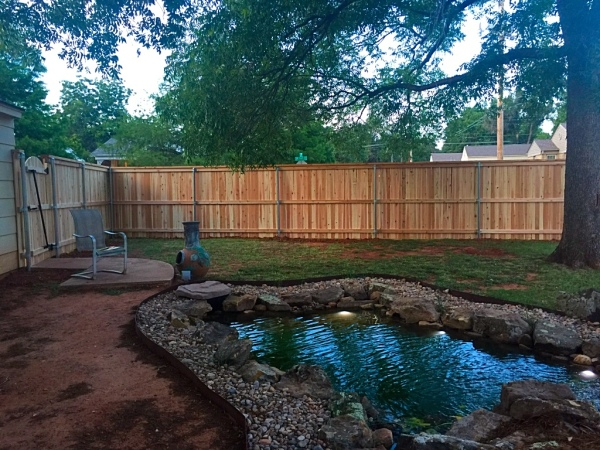 Cedar Cap and Trim Residential Wood Fence Company Edmond Security Gate Openers, Gates, Fence Hardware