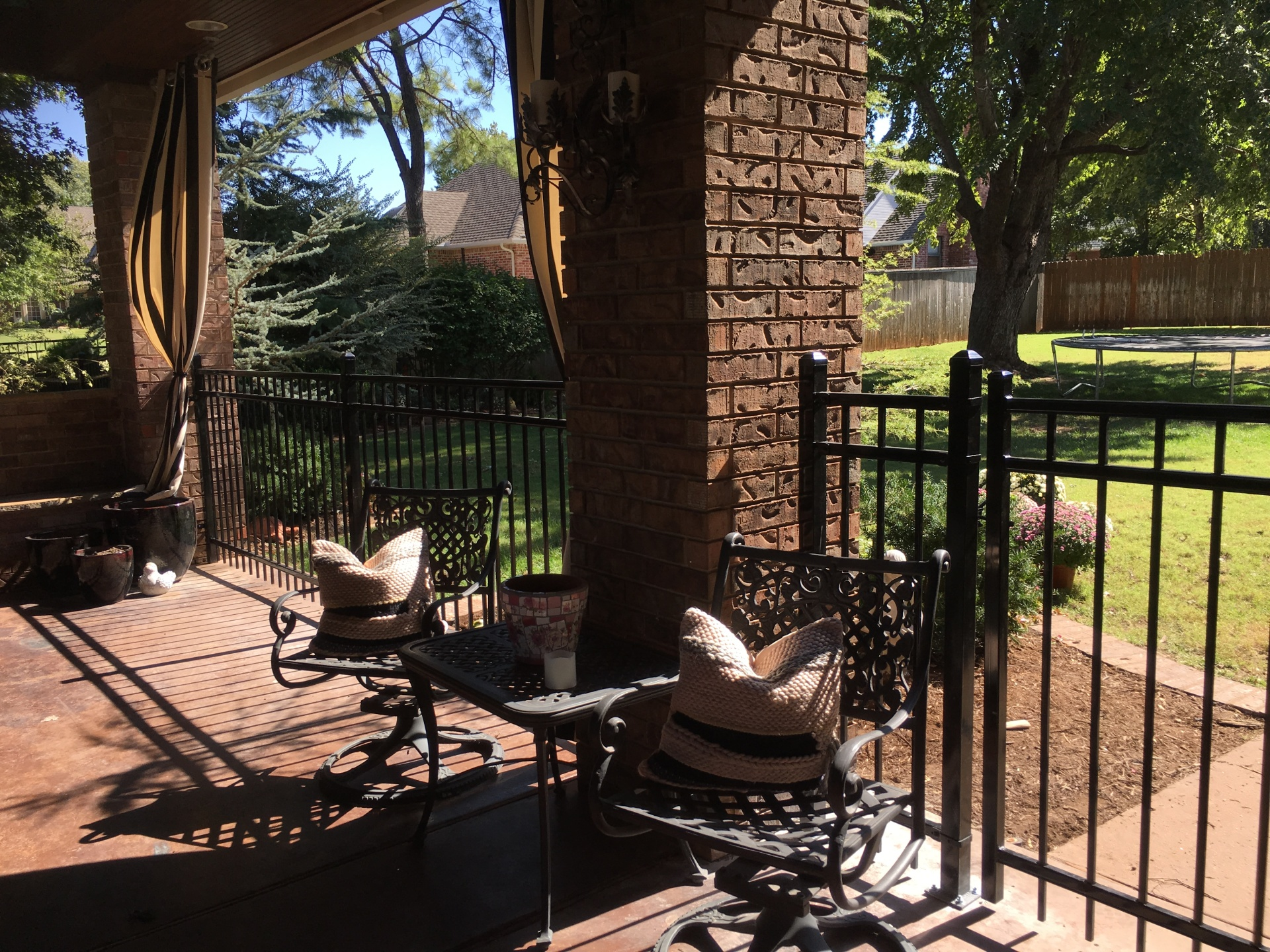 Iron Security Patio Fence, Oklahoma Fence Iron Company
