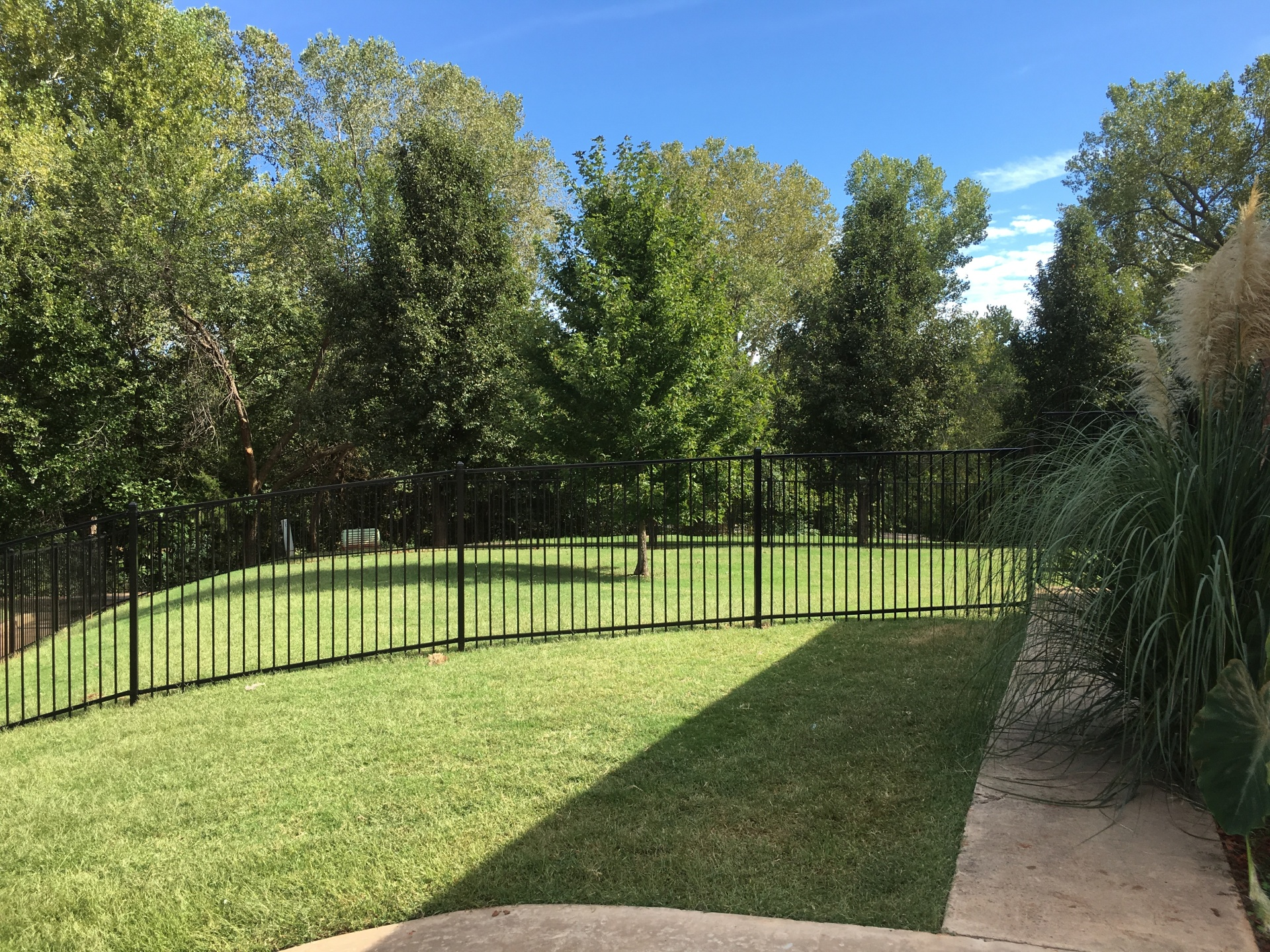 Backyard Iron Fence, Edmond Oklahoma Fence and Gate Company, Security