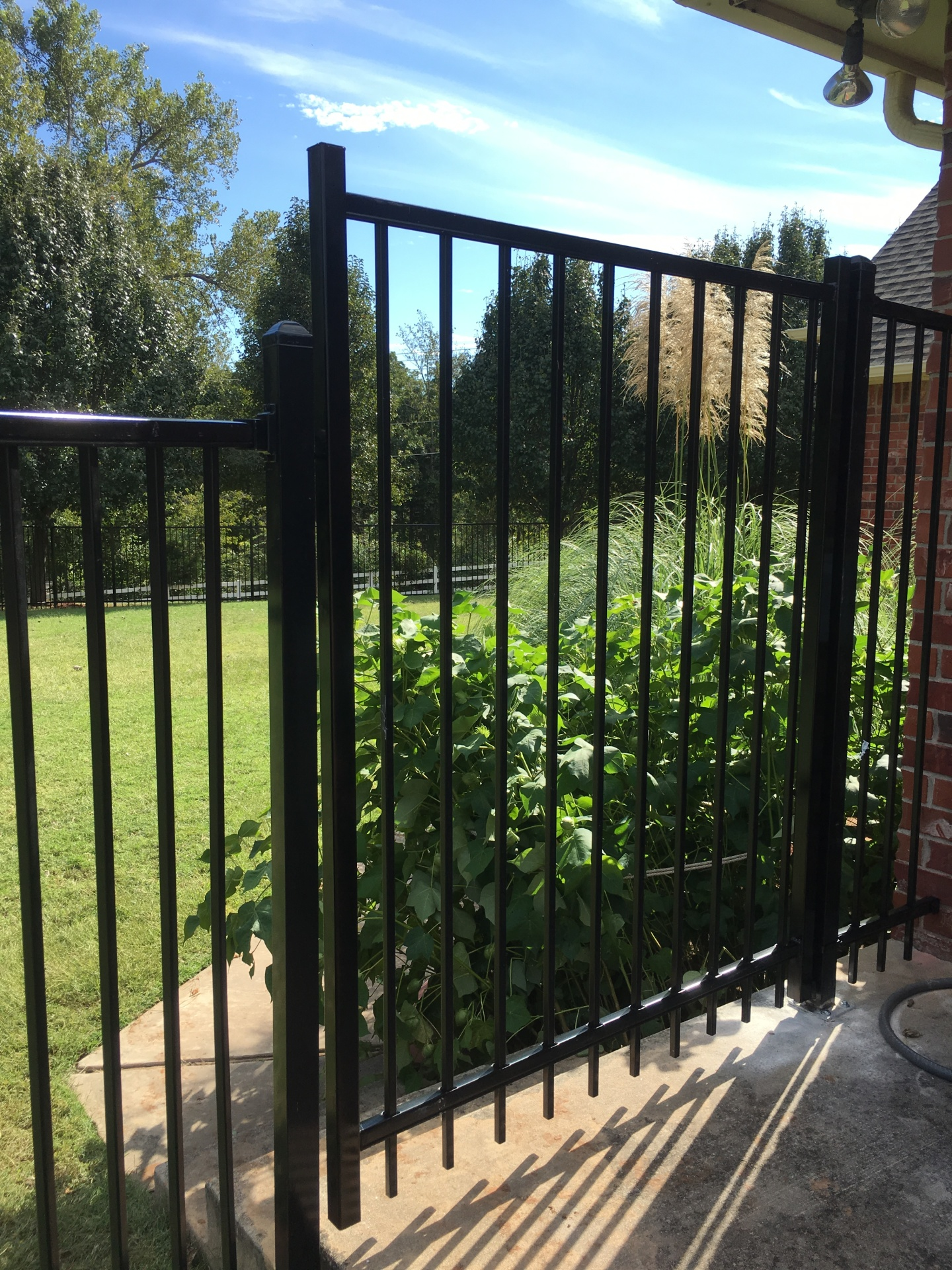Security Walk Gate, Iron Fence Company Edmond Oklahoma