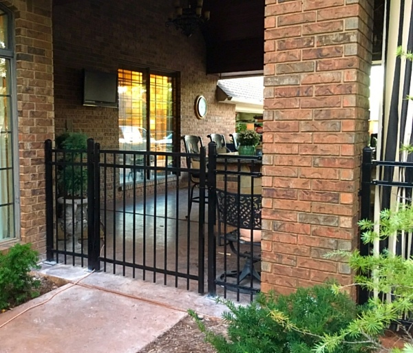 Security Gate, Patio Enclosure, Secure fencing, Iron Fence, Iron Gate, Edmond Fence Company, Oklahoma Fence Company, Oklahoma Gate Company
