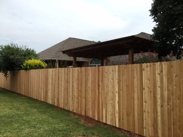 7/8 Cedar Privacy Fence on Steel Posts