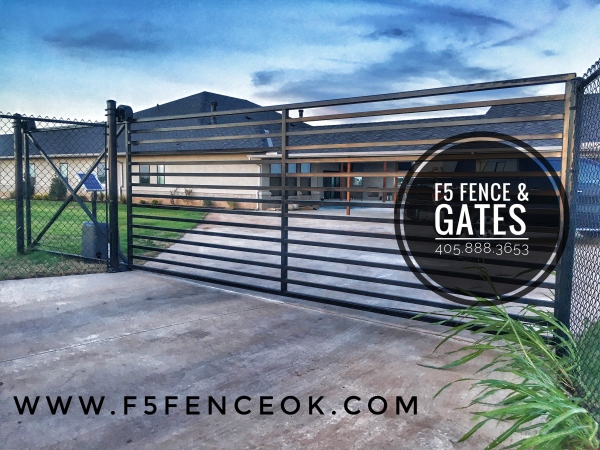Beautiful Custom Iron Driveway Gate, Edmond Gates, Oklahoma Gate Company, Secure Gate