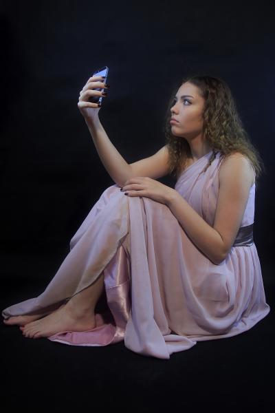 Maya with Phone
