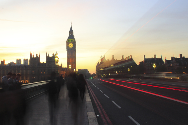 Big Ben at sunset. 2015