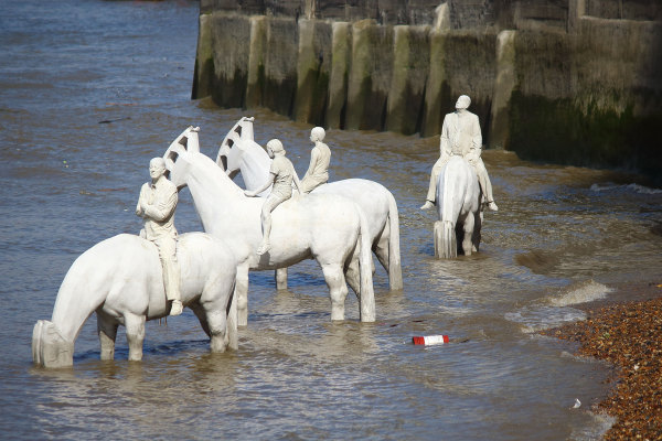 'The Rising Tide',  Jason deCaires Taylor, Vauxhall, Summer 2015