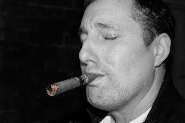 Sean with Cigar, 2015