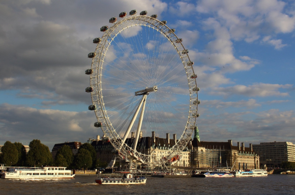 London Eye in late afternoon sun, 2015
