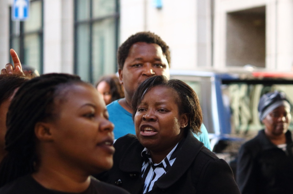 Vigil Outside the Zimbabwe Embassy, Summer 2015