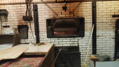 Take a look in that brick oven!