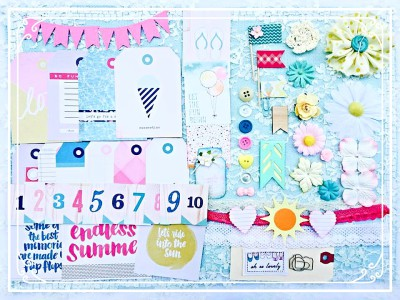 Perfect Summer Kit for Scrapbook Projects