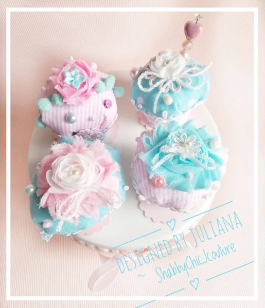 Shabby Chic Cupcake Pin Cushion