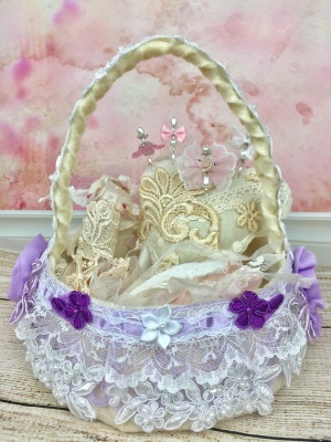 DIY Shabby Chic Lavender Easter Basket